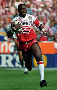 Martin Offiah is among sportspeople with speakers dinners at Haigh Hall