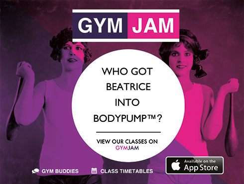 Information about our fitness classes is available wherever you are - with GymJam on the iPhone!